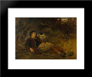 Companions In Misfortune:  Modern Black Framed Art Print by Briton Riviere
