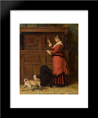 Cupboard Love:  Modern Black Framed Art Print by Briton Riviere