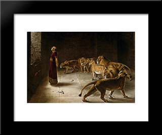 Daniel'S Answer To The King:  Modern Black Framed Art Print by Briton Riviere