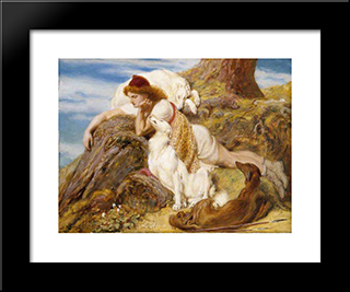 Endymion:  Modern Black Framed Art Print by Briton Riviere