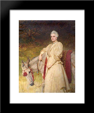 Lady Harriet Sarah Wantage:  Modern Black Framed Art Print by Briton Riviere