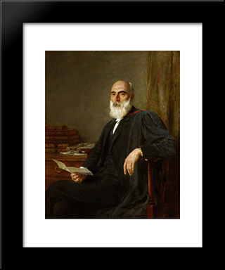 Lancelot Ridley Phelps, Hon. Dcl, Provost:  Modern Black Framed Art Print by Briton Riviere