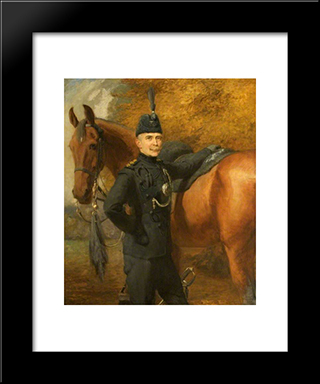 Lord Roundway Of Devizes, Wiltshire:  Modern Black Framed Art Print by Briton Riviere