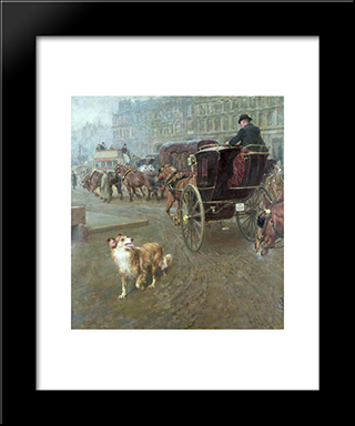 Lost Or Strayed:  Modern Black Framed Art Print by Briton Riviere