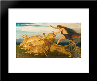 Phoebus Apollo:  Modern Black Framed Art Print by Briton Riviere
