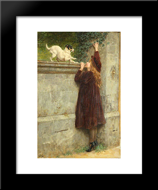 Play Fellows:  Modern Black Framed Art Print by Briton Riviere