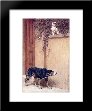 Pride Of Place:  Modern Black Framed Art Print by Briton Riviere