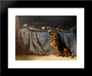 Requiescat:  Modern Black Framed Art Print by Briton Riviere