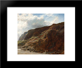 The Day After The Storm:  Modern Black Framed Art Print by Briton Riviere
