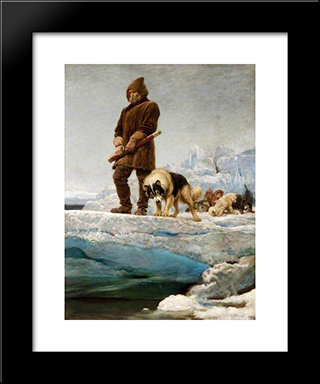 The Last Of The Crew:  Modern Black Framed Art Print by Briton Riviere