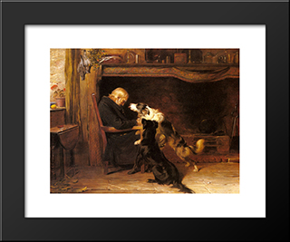 The Long Sleep:  Modern Black Framed Art Print by Briton Riviere