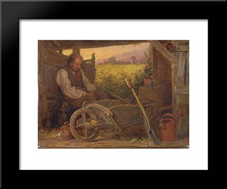 The Old Gardener:  Modern Black Framed Art Print by Briton Riviere