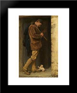 The Welcome:  Modern Black Framed Art Print by Briton Riviere