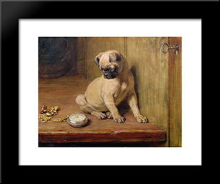 Tick-Tick:  Modern Black Framed Art Print by Briton Riviere