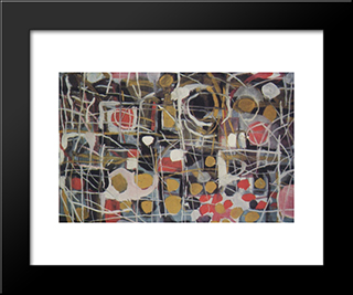 (Abstract):  Modern Black Framed Art Print by Bui Xuan Phai