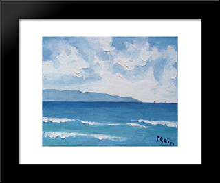 Seascape:  Modern Black Framed Art Print by Bui Xuan Phai