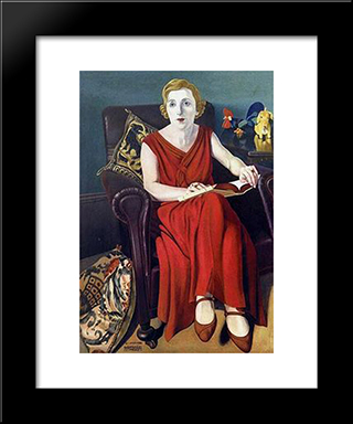 Portrait Of Signora Vighi:  Modern Black Framed Art Print by Cagnaccio di San Pietro