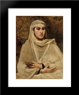 Algerian Woman:  Modern Black Framed Art Print by Camille Corot