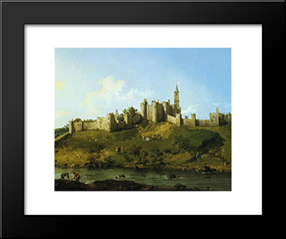 Alnwick Castle: Modern Black Framed Art Print by Canaletto