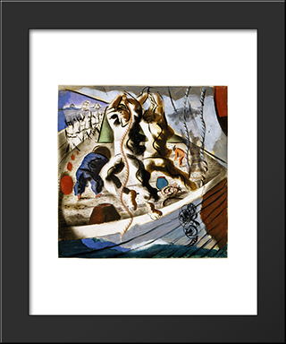 A Descoberta Da Terra: Modern Black Framed Art Print by Candido Portinari