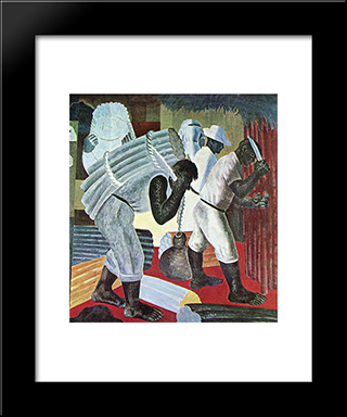 Cana: Modern Black Framed Art Print by Candido Portinari