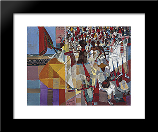 Carnaval: Modern Black Framed Art Print by Candido Portinari