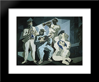 Chorinho: Modern Black Framed Art Print by Candido Portinari