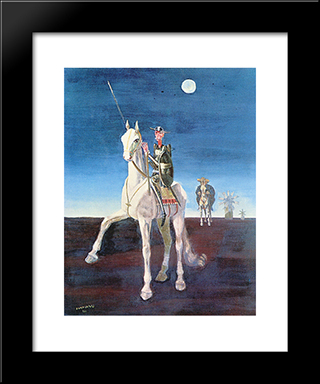 Dom Quixote: Modern Black Framed Art Print by Candido Portinari