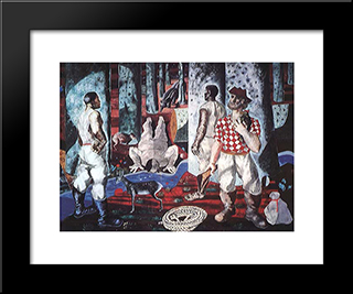 Entry Into The Forest: Modern Black Framed Art Print by Candido Portinari