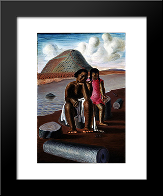 India E Mulata: Modern Black Framed Art Print by Candido Portinari