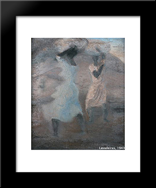 Lavadeiras: Modern Black Framed Art Print by Candido Portinari