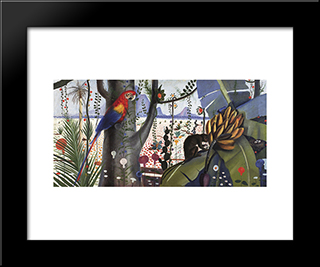 Meio Ambiente: Modern Black Framed Art Print by Candido Portinari