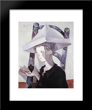 Meninos E Pioes: Modern Black Framed Art Print by Candido Portinari