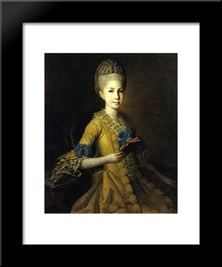 Catherine Mordvinova: Modern Black Framed Art Print by Carl Ludwig Johann Christineck