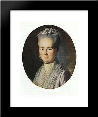 Portrait Of An Unknown Woman: Modern Black Framed Art Print by Carl Ludwig Johann Christineck
