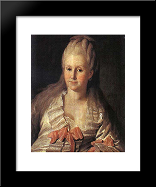 Portrait Of Anna Muravyova: Modern Black Framed Art Print by Carl Ludwig Johann Christineck