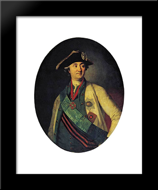Portrait Of Count Orlov-Chesmensky: Modern Black Framed Art Print by Carl Ludwig Johann Christineck