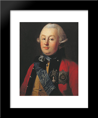Portrait Of Prince G.G. Orlov: Modern Black Framed Art Print by Carl Ludwig Johann Christineck