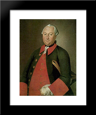 Portrait Of Tishin: Modern Black Framed Art Print by Carl Ludwig Johann Christineck