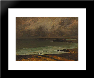 Marine Breton: Modern Black Framed Art Print by Charles Cottet