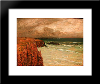 Sea Landscape In Brittany: Modern Black Framed Art Print by Charles Cottet