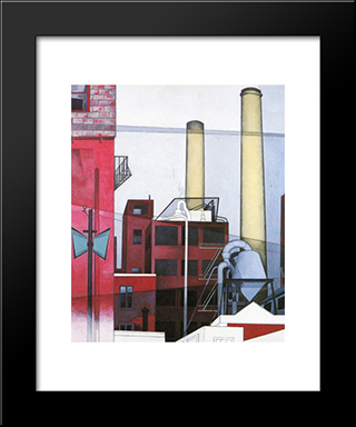 After All: Modern Black Framed Art Print by Charles Demuth