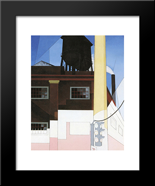 And The Home Of The Brave: Modern Black Framed Art Print by Charles Demuth