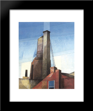 Aucassin And Nicolette: Modern Black Framed Art Print by Charles Demuth