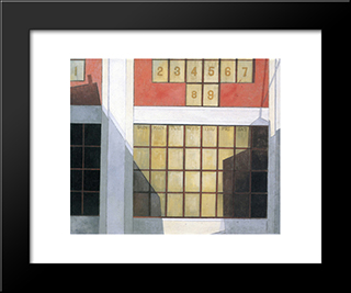 Business: Modern Black Framed Art Print by Charles Demuth