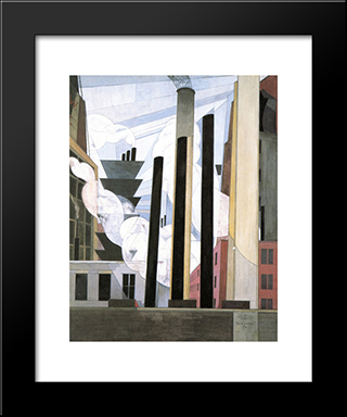 End Of The Parade, Coatesville, Pa.: Modern Black Framed Art Print by Charles Demuth
