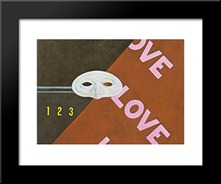 Love Love Love: Modern Black Framed Art Print by Charles Demuth