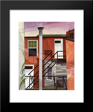 Modern Conveniences: Modern Black Framed Art Print by Charles Demuth