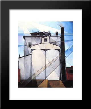 My Egypt: Modern Black Framed Art Print by Charles Demuth