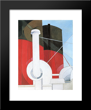 Paauebot 'Paris: Modern Black Framed Art Print by Charles Demuth